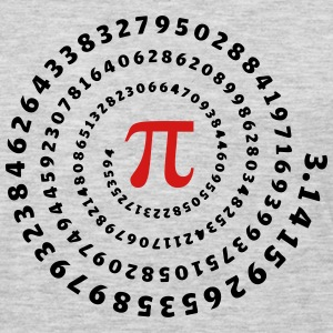 Math, Pi, π, Mathématiques spirale, nombre irratio T-Shirts - Men's Premium Long Sleeve T-Shirt