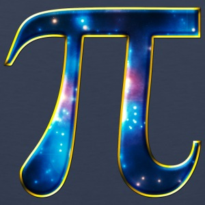 Pi π Symbol Math Mathematics Universe Galaxy Space T-Shirts - Men's Premium Tank