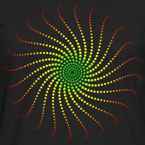 Reggae Music Energy Spiral Rastafari Jah Jamaica T-Shirts - Men's Premium Long Sleeve T-Shirt