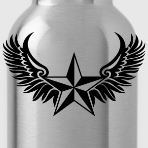 Nautical Star - Protection Symbol - Tattoo Style T-Shirts - Water Bottle