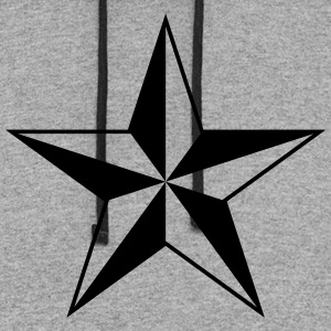 Nautical star protection guidance good luck symbol T-Shirts - Colorblock Hoodie