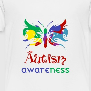 Autism Awareness Butterfly - Toddler Premium T-Shirt