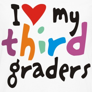 I heart my third graders - Men's Premium Long Sleeve T-Shirt