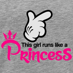 Run like a Princess Tanks - Men's Premium T-Shirt