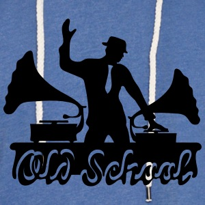 Old School DJ, Gramophone, Music Dance Club Party T-Shirts - Unisex Lightweight Terry Hoodie
