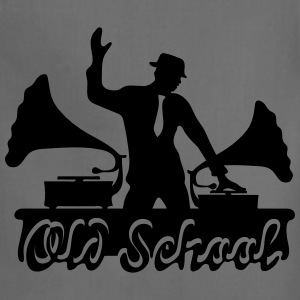 Old School DJ, Gramophone, Music Dance Club Party T-Shirts - Adjustable Apron