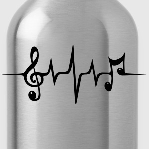 Heart Rate Pulse Music Note Clef Electro Classic T-Shirts - Water Bottle