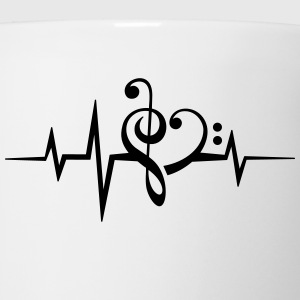 Frequency music notes clef heart pulse bass beat Women's T-Shirts - Coffee/Tea Mug