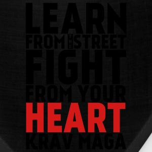 Learn Krav Maga black with red - Bandana