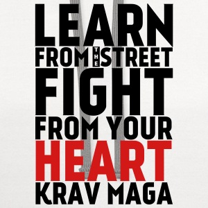Learn Krav Maga black with red - Contrast Hoodie