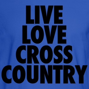 Live Love Cross Country Hoodies - Men's Long Sleeve T-Shirt