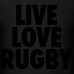 Live Love Rugby Hoodies - Men's T-Shirt