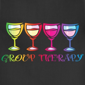 Wine Group Therapy 2 Women's T-Shirts - Adjustable Apron