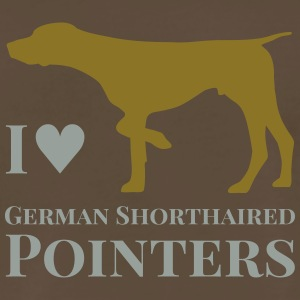 I Love German Shorthaired Pointers - Men's Premium T-Shirt