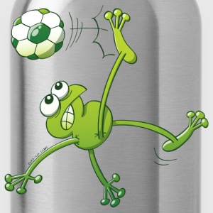 Frog Executing a Bycicle Kick with a Soccer Ball T-Shirts - Water Bottle