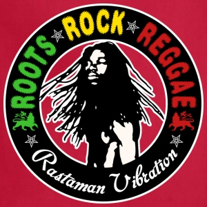 roots rock reggae rastaman vibration T-Shirts - Adjustable Apron