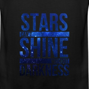 (STARS CAN'T SHINE WITHOUT DARKNESS) Blue Galaxy Sweatshirts - Men's Premium Tank