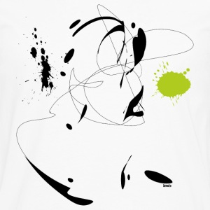 Lines and splashes of color 07 - black Women's T-Shirts - Men's Premium Long Sleeve T-Shirt