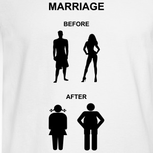 Marriage before / after Women's T-Shirts - Men's Long Sleeve T-Shirt