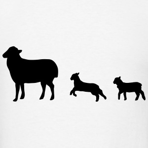 Sheep, lamb, lambs Hoodies - Men's T-Shirt