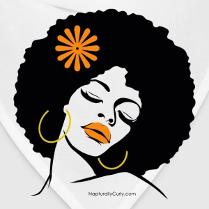 Afro Diva Orange Flower Women's T-Shirts - Bandana