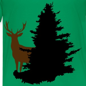 Deer + Tree, Forest, Stag Kids' Shirts - Toddler Premium T-Shirt