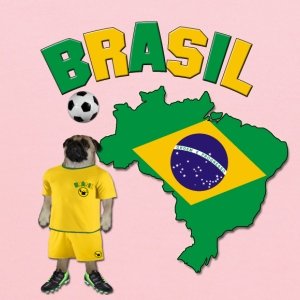 Brazil Football World Cup Pug Baby & Toddler Shirts - Kids' Hoodie