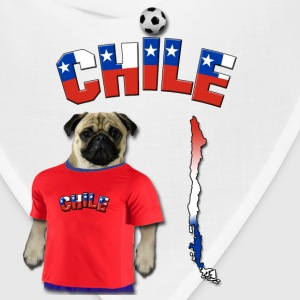 Chile Football World Cup Pug T-Shirts - Bandana