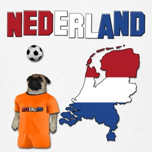 Netherland Football World Cup Pug Phone & Tablet Cases - Men's T-Shirt