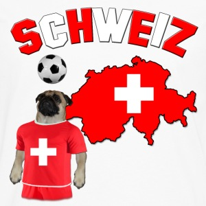 Switzerland Football Pug Women's T-Shirts - Men's Premium Long Sleeve T-Shirt