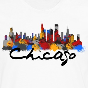 Chicago Illinois Skyline - Men's Premium Long Sleeve T-Shirt