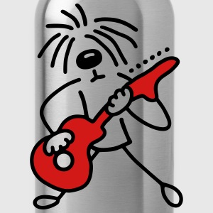 Dog with guitar - V2 Kids' Shirts - Water Bottle