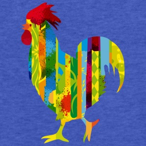 A colorful rooster Sweatshirts - Fitted Cotton/Poly T-Shirt by Next Level