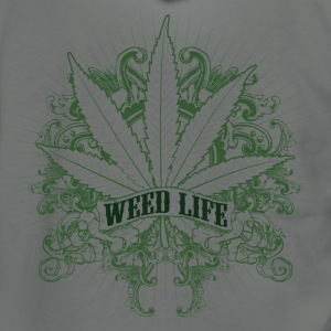 7 Weed Design - Green T-Shirts - Unisex Fleece Zip Hoodie by American Apparel