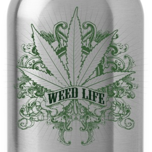 7 Weed Design - Green T-Shirts - Water Bottle