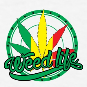 19 WeedLife Circle - Rasta  Bottles & Mugs - Men's T-Shirt
