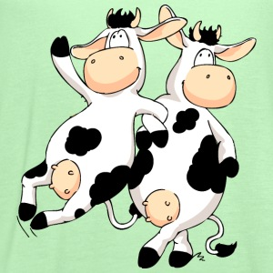 Cow's night Out Kids' Shirts - Women's Flowy Tank Top by Bella
