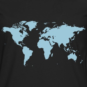 World Map - Men's Premium Long Sleeve T-Shirt