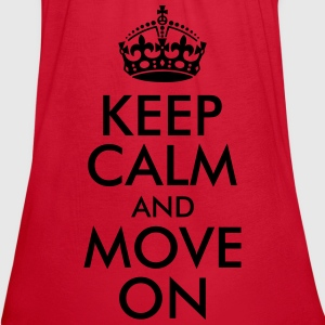 Keep Calm and Move On Women's T-Shirts - Women's Flowy Tank Top by Bella