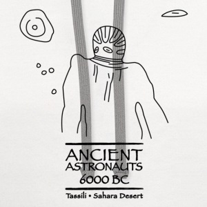 Ancient Astronauts Tassili 6000 BC - Contrast Hoodie