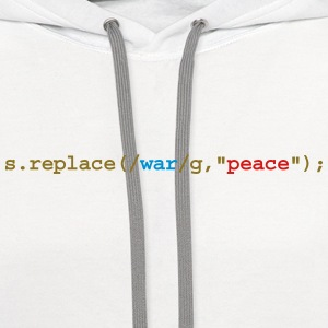 replace war with peace Long Sleeve Shirts - Contrast Hoodie