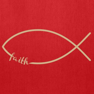 Faith Fish/Jesus Fish Men's Hooded Sweatshirt - Tote Bag