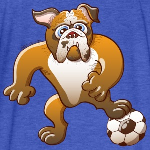 Bulldog Preparing to Kick a Soccer Ball Sweatshirts - Fitted Cotton/Poly T-Shirt by Next Level