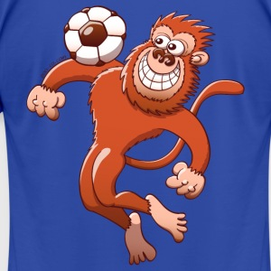 Monkey Trapping a Soccer Ball with its Chest Hoodies - Men's T-Shirt by American Apparel