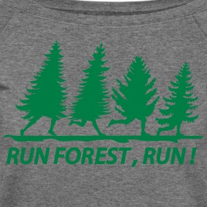 Run forest - Women's Wideneck Sweatshirt