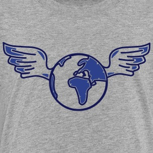 earth with wings Kids' Shirts - Toddler Premium T-Shirt