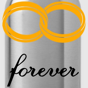 wedding rings forever Women's T-Shirts - Water Bottle