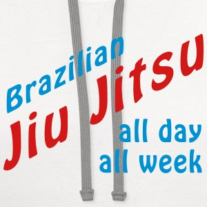 BJJ All Day T-Shirts - Contrast Hoodie