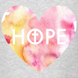 Hope in Jesus Heart Women's Crewneck Sweatshirt - Men's T-Shirt