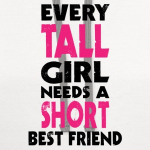 (TALL GIRL - SHORT GIRL) BFF Women's T-Shirts - Contrast Hoodie